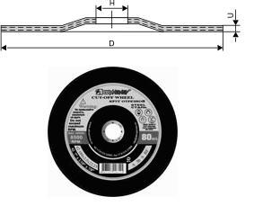 Круг Зачистной армированный 230х 6х22 ПП 14А по металлу (ИСМА) тип 27