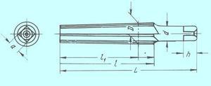 Развертка d27,0х125х185 коническая  ,конусность 1:30 с прямой канавкой