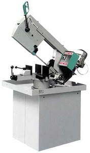 BASIC 230/60 GH - Ленточнопильный станок с гравитационной подачей пильной рамы, диаметр круглой заготовки 220 мм.