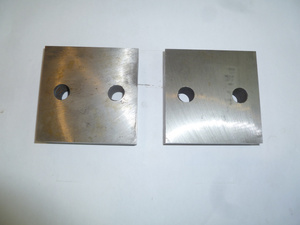 Нож для резчика арматуры ТСС GQ-50 (к-т из 2-х деталей с 2 отверстиями, 90х90х26 мм, 2 М16)