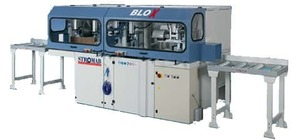 STROMAB BLOX - Чашкозарезной станок, Италия (зарезки пазовых соединений на брусе, сечение 230х230 мм)