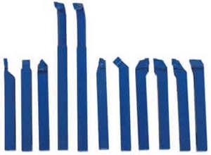 Набор токарных резцов с напайными пластинами  11 шт., державка 10 мм