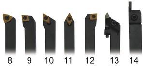 Набор токарных резцов со сменными пластинами 5 шт. 10 мм