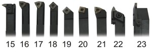 Набор токарных резцов со сменными пластинами 9 шт. 12 мм