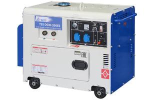 Дизельный сварочный генератор в кожухе TSS DGW-200ES