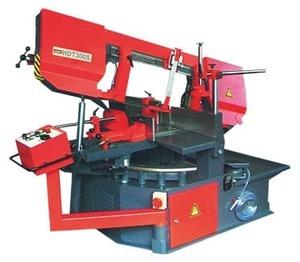 HDT300S - Полуавтоматический ленточнопильный станок, диаметр круглой заготовки 300 мм.