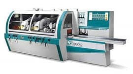 Четырехсторонний строгальный станок G 240/5U - GRIGGIO, Италия ( Шп. 4+ 1 универс , max сечение 240*160 мм, 6-30 м / мин )