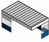 Потолочный пленум с шторками и стенами (кабина)