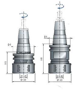 Конус ISO30 с цанговым зажимом MP06MD