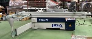 LIGA P-3200TA - Форматно-раскроечный станок  (ролики. L-3200мм, 5,5+0,55кВт, 305(30), 120(22), 0-45°,1065кг. Электро подъем и наклон основной пилы. Электро рег. подрезной пилы)