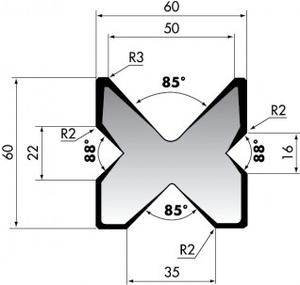 Матрица для листогибочного пресса Rolleri M460