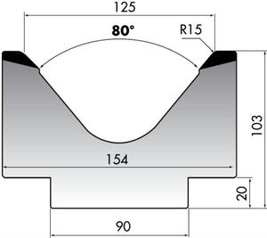 Матрица для листогибочного пресса Rolleri M103-80-125