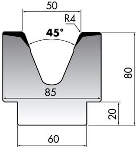 Матрица для листогибочного пресса Rolleri M80-45-50