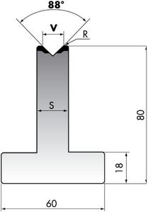 Матрица для листогибочного пресса Rolleri T80-25-88