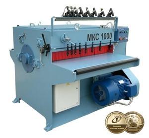 Кромкообрезной  станок  МКС-1000 ( Мощность 15 кВт, просвет 1000 мм, H max= 100 мм. )