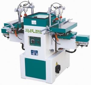 Сверлильно-пазовальный 2-хстоловый полуавтоматический станок  MS3112 (P = 2,2 кВт,  M= 500 кг), Китай