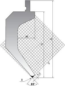 Пуансон для листогибочного пресса Rolleri TOP.205-85-R08/R2