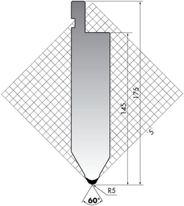 Пуансон для листогибочного пресса Rolleri TOP.175-60-R5