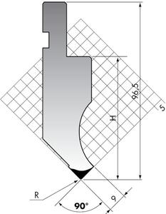 Пуансон для листогибочного пресса Rolleri PK.97-90-R08/R025