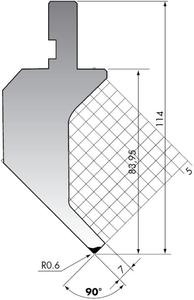 Пуансон для листогибочного пресса Rolleri PK.114-90-R06