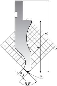 Пуансон для листогибочного пресса Rolleri D.116-88-R08/R3