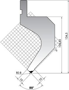 Пуансон для листогибочного пресса Rolleri PR.135-88-R08