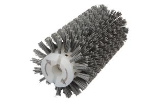 Брашировальная щетка валик Д130х250мм, ворс полимер абразив P60