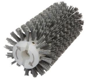Брашировальная щетка валик Ø130х460 мм, ворс полимерно-абразивный P80