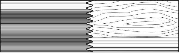 Сращивание заготовок радиального и тангетального распила